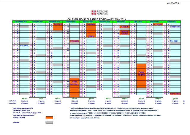 Calendario Regionale Scuola.Calendario Scuola Piemonte Calendario 2020
